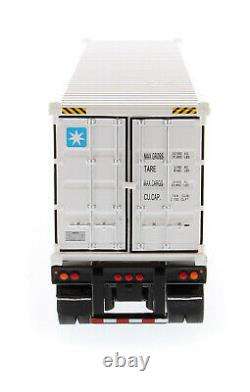 150 scale Peterbilt 579 Day Cab Tractor with40' Refrigerated Container- DM71069