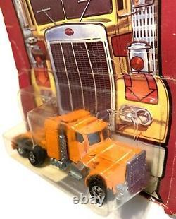 1982 Hot Wheels Steering Rig Semi Cab Orange Peterbilt # 5672 Sealed Card MOC BP