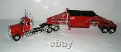 1/64DCP60-0797 Custom 359 Pete Day Cab Red Cat Engine Manac Bottom Dump Trailer