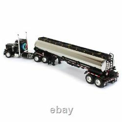 1/64 Black Peterbilt 359 Day Cab With Heil Fuel Tanker DCP By First Gear 60-1035