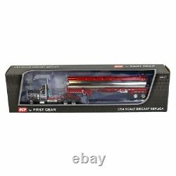 1/64 Black & White Peterbilt 359 Day Cab & Red Heil Fuel Tanker by DCP 60-1034