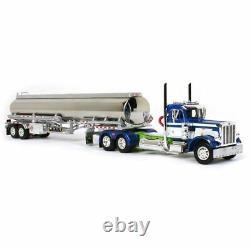 1/64 Blue White Peterbilt 359 Day Cab & Heil Fuel Tanker DCP First Gear 60-1036