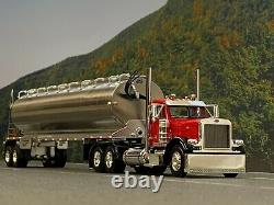 1/64 DCP RED/BLACK PETERBILT 379 DAY CAB With WALINGA FEED TRAILER