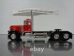 1/64 DCP RED/BLACK PETERBILT 379 DAY CAB With WALINGA FEED TRAILER 34115