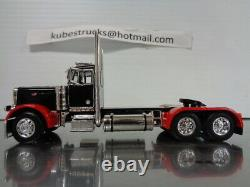 1/64 DCP RED/BLACK PETERBILT 379 DAY CAB With WALINGA FEED TRAILER 34116