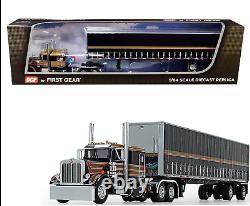 1/64 Peterbilt 359 63 Flattop Sleeper Cab 53' Utility Tautliner Spread Axle