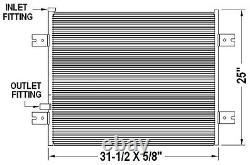 2005-2007 Peterbilt 385/386 Series New AC Condenser Conventional Cab