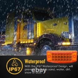 20x Red Amber 21 LED Side Marker Clearance Tail Lights Trailer Truck Camper 12V