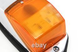 5 Cab Marker Lights Chrome 31 LED Peterbilt Kenworth Freightliner Roof Amber