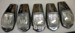 5 Kenworth Grakon 5000 Style Clear Led Cab Lights Peterbilt Lb010301 Hd10131wc