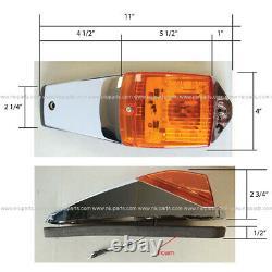 5 Pcs Grakon 5000 Style 12 LED Cab Marker Indicator Light Fit Kenworth Peterbilt