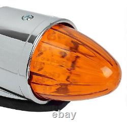 5x 24V LED Amber Torpedo Cab Roof Top Marker Light For Kenworth Peterbilt Truck