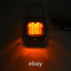 5x Clear/Amber Chrome 7LED Upper Cab Lights for Peterbilt Kenworth Freightliner