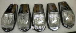 7 Kenworth Grakon 5000 Style Clear White Led Cab Lights Peterbilt Hd10131 Wc