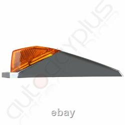 9x Amber 17LED Chrome Cab Roof Marker Light for Peterbilt Kenworth Freightliner