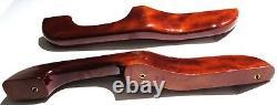 Armrest set(2) wood reversed handle for Peterbilt 1987-2001 cab door arm rest