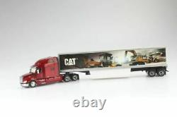 CAT Peterbilt 579 Day Cab WithCat Mural Trailers 150 Scale Metal Model DM85665