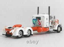 DCP 1/64 Peterbilt 379 withSmall Bunk Sleeper Cab (White & Orange Flames)