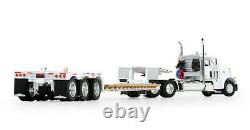 DCP white PETERBILT 379 DAY CAB RENEGADE LOWBOY TRAILER 1/64 60-0723