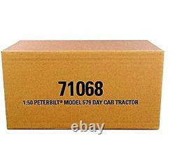 DM 1/50 Peterbilt 579 Day Cab Tractor Red Diecast Model 71068 Collection Toy Gif