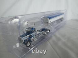 Dcp 1/64 Blue & White Peterbilt Cab Wilson Grain Hopper Tractor Trailer Semi