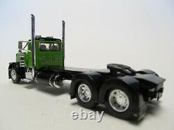 Dcp 1/64 Scale 379 Peterbilt Day Cab Lime Green & Black Double Hump Rear Fenders