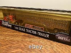 Dcp #30586 Red Pete 379 Semi Cab Truck Cattle Pot Livestock Trailer 164/ Fc