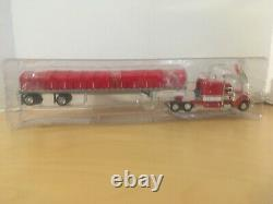 Dcp#32888 A Owner Operator Pete 379 Semi&covered Wagon Flat Bed Trailer 164/fc