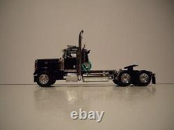 Dcp First Gear 1/64 Black Peterbilt 379 Day Cab With Black Renegade Lowboy