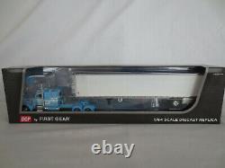 Dcp First Gear 1/64 Blue & White Peterbilt Cab Reefer Van Tractor Trailer Semi