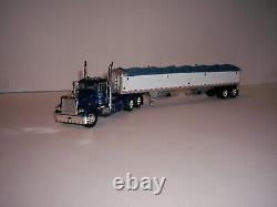 Dcp First Gear 1/64 Dark Blue Peterbilt 379 Day Cab And Wilson Grain Trailer