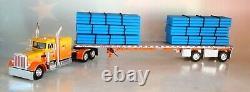 Dcp Kelsey's Orange Peterbilt 359 63 Sleeper Cab Pipe Load 1/64 69-0700