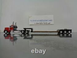 Dcp Red Peterbilt 379 Day Cab Renegade Lowboy Trailer 1/64 60-0722