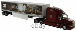 Diecast Masters Model Peterbilt 579 Day Cab With Cat Mural Trailers