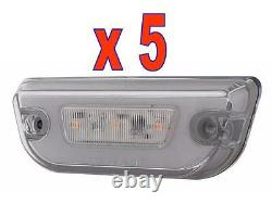 GLO CAB LIGHTS (11 LED) For PETERBILT 579 (AMBER/CLEAR) 5 Each
