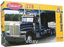 Italeri 1/24 Peterbilt 378 Long Hauler Tractor Cab withSleeper KIT ITA3857-NEW