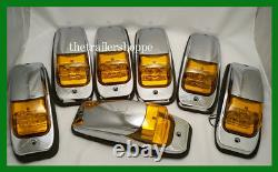 Maxxima Kenworth Peterbilt Roof Cab Marker Light 8 LED Set of 7