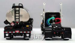 NEW BLACK DCP 1/64 PETERBILT 359 DAY CAB 245 FRAME With HEIL FUEL TANKER