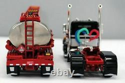 NEW BLACK & SILVER DCP 1/64 PETERBILT 359 DAY CAB 245 FRAME With HEIL FUEL TANKER