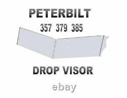PETERBILT 13 S. S. DROP VISOR 357 379 385 Standard Cab (1988-2004)