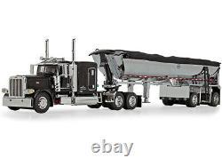 PETERBILT 389 SLEEPER CAB WithMAC DUMP TRAILER BLACK 1/64 DCP/FIRST GEAR 60-1004