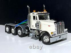 PETERBILT TRUCK WSI MODELS(379 8x4 DAY CAB)WHITE 150