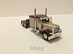 Peterbilt 379 Maroon / Sand Tan Tractor Cab Only 1/64 Scale DCP First Gear #1160