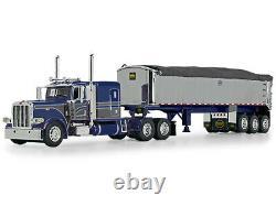 Peterbilt 389 Sleeper Cab Mac Coal Dump Trailer Blue 1/64 Dcp/first Gear 60-1007