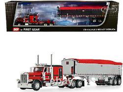 Peterbilt 389 Sleeper Cab Mac Coal Dump Trailer Red 1/64 Dcp/first Gear 60-1005