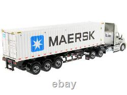 Peterbilt 579 Day Cab & 40' Sea Container Maersk 1/50 By Diecast Masters 71069
