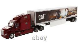 Peterbilt 579 Day Cab CAT MURAL VAN TRAILER 1/50 DIECAST MASTERS 85665 NEW