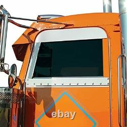 RoadWorks Stainless Steel 5 Chop Tops Peterbilt Legacy Style Cab 2005-2020 S