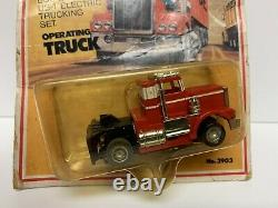 Vintage Tyco 1981 US1 Trucking HO Slot Car Red White Peterbilt Semi Cab 3903 HTF