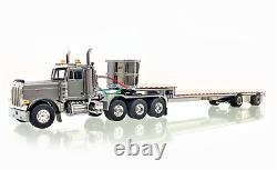 WSI 33-2015 Peterbilt 379 8x4 Day Cab in Silver withEast Dropdeck 1/50 Diecast MIB
